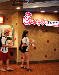 Students buy meals at Chick-fil-a